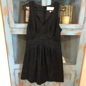 Anthropologie dress black size 8 leifsdottir